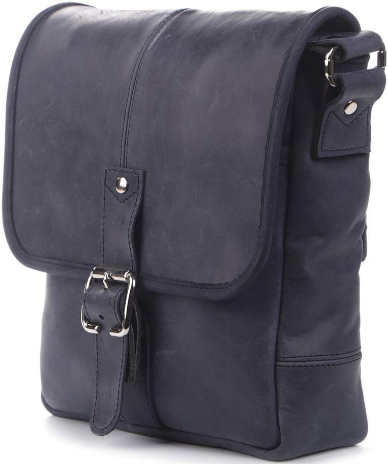 b66810663ef0 Повседневная модная мужская сумка на плечо SHVIGEL 11015 Синяя ...