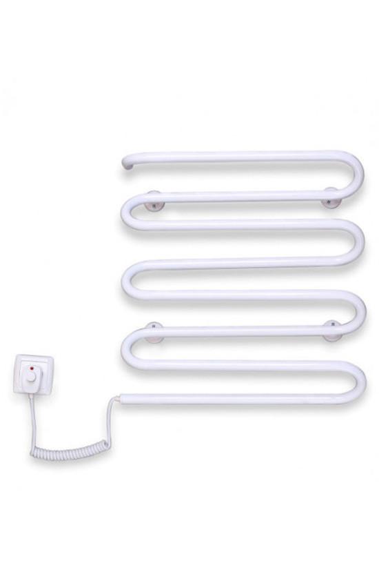 """Электрический полотенцесушитель Elna """"Волна-8"""" 500х420 белый л/п"""