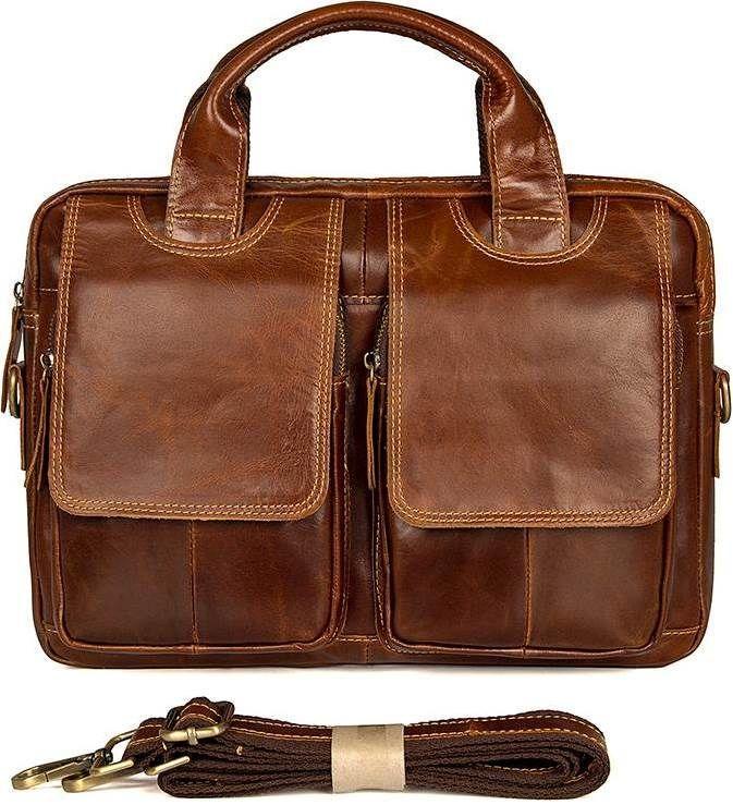 2ebfd5d8a232 Коричневая сумка мужская большая на плечо Vintage 14517 кожаная, ...