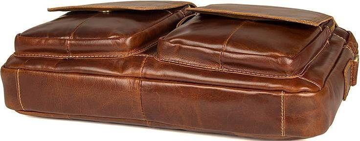 cb0dc677fe44 ... Коричневая сумка мужская большая на плечо Vintage 14517 кожаная, ...