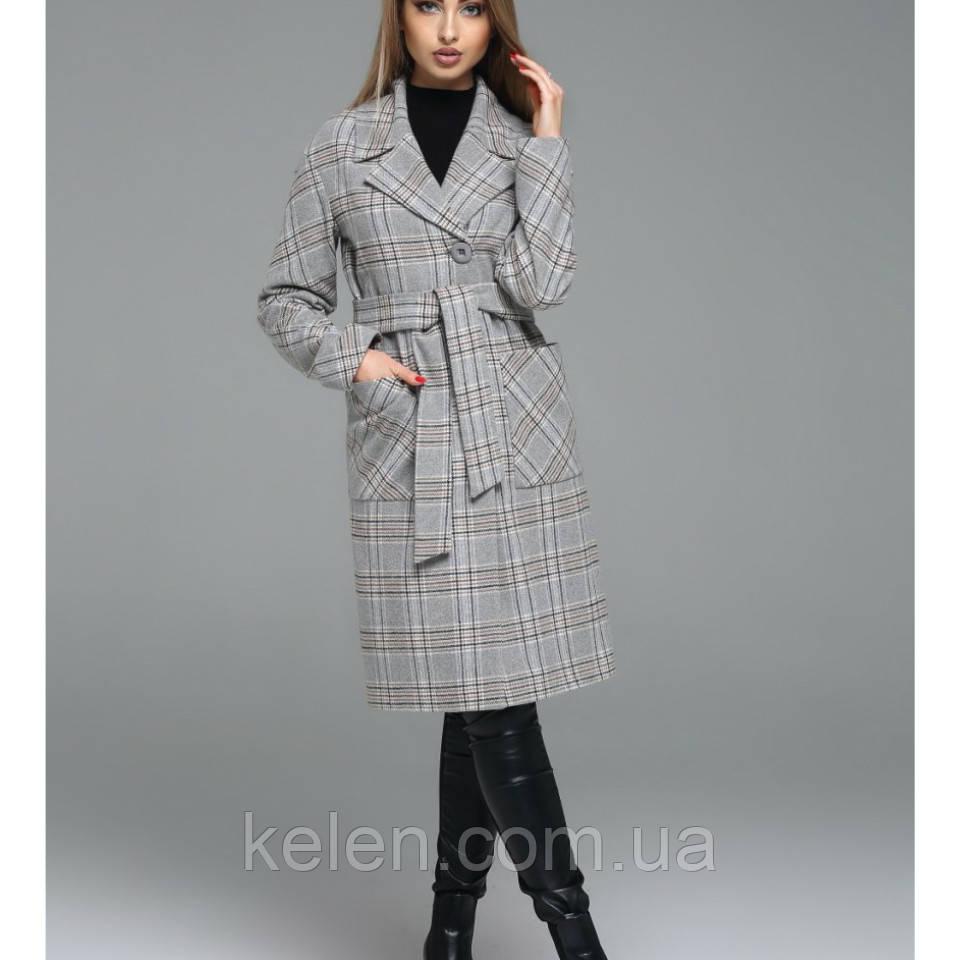 bf5951ec186 Женское пальто в клетку весеннее