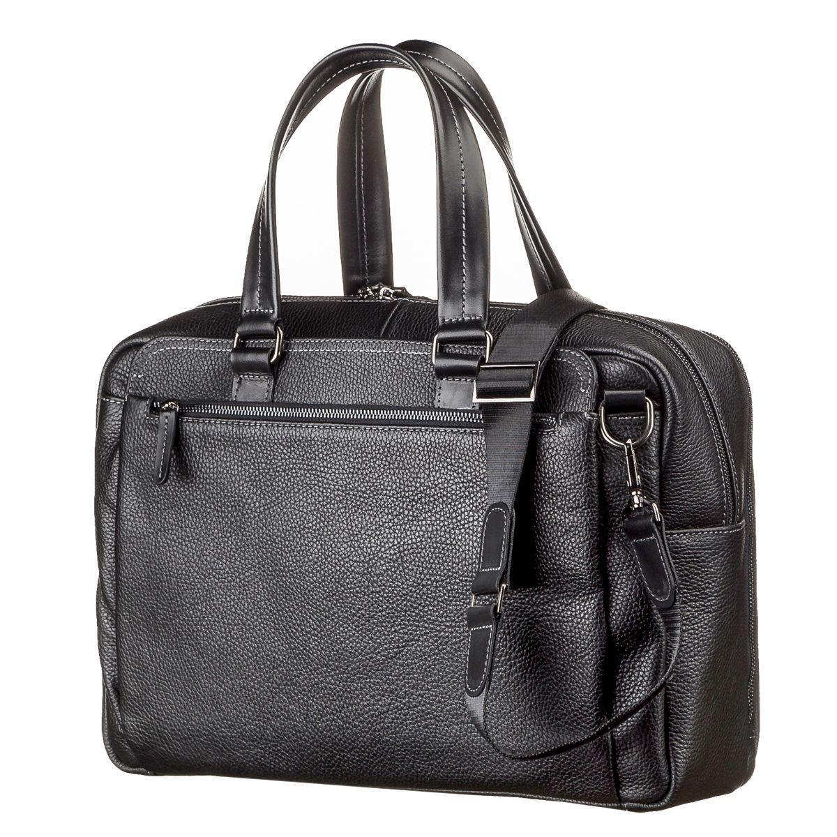 ab7190f75b16 Мужская кожаная сумка через плечо SHVIGEL 11123 Черная - Цена ...