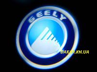 Проектор логотипа Geely в автомобильные двери Джили