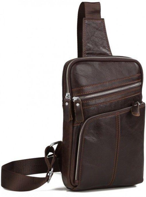 a138f285ebf3 Практичный коричневый кожаный стильный рюкзак Vintage 14624 - Цена ...