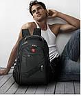 Рюкзак Swissgear 8810 Швейцарский +USB+Дождевик+PowerBank в Подарок, фото 5