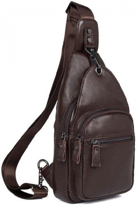 a43edcff67ed Практичный кожаный мужской рюкзак из натуральной кожи Vintage 14647  Коричневый