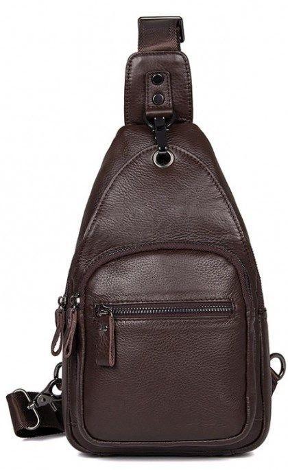 e07540e1efc2 Практичный кожаный мужской рюкзак из натуральной кожи Vintage 14647  Коричневый, ...
