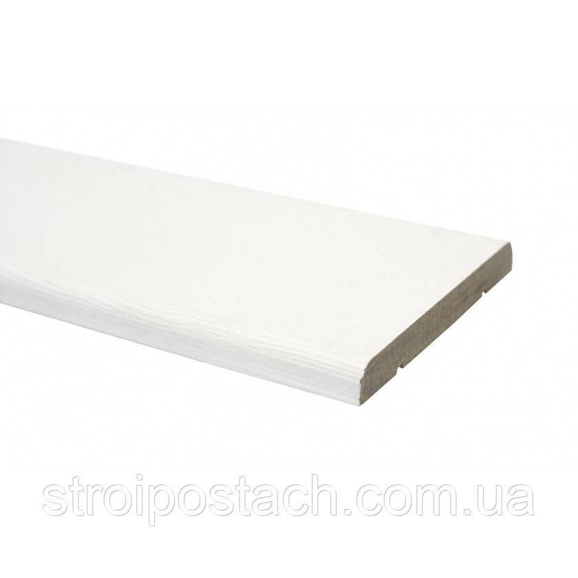 Наличник ПВХ прямой 70 мм белый структурный, шт