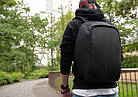 Рюкзак Bobby Антивор Черный удобный и модный Бобби + Нож-кредитка в Подарок, фото 3