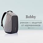 Рюкзак Bobby Антивор Черный удобный и модный Бобби + Нож-кредитка в Подарок, фото 7