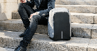 Рюкзак Bobby Бобби антивор Черный с USB, часы Swiss Army в подарок, фото 9