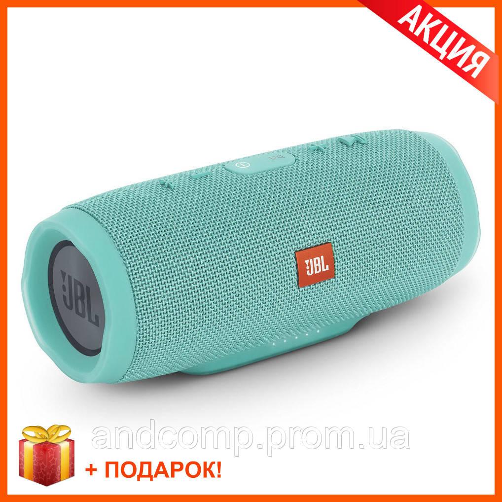 Портативная Bluetooth колонка JBL Charge 3 GREEN Бирюза Джибиэль КАЧЕСТВО + Подарок!
