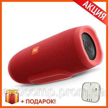 Портативная Bluetooth колонка JBL Charge 3 RED (Красная) КАЧЕСТВО + Наушники EarPods в Подарок!