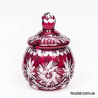Хрустальная Красная Сахарница Julia 15 см SG1508