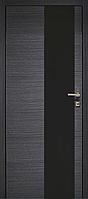 Межкомнатные шпонированные двери НЕО 1/2 стекло вертикальное и горизонтальное (седой дуб).