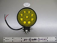 Фара LED 27W (9Вт) желтая круглая. https://gv-auto.com.ua, фото 1