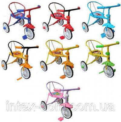 Велосипед LH-701M-B  (Синий), хром, клаксон, 6 цветов, красный, зелений, голубой, синий, розовый