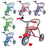 Велосипед LH-701M-B  (Синий), хром, клаксон, 6 цветов, красный, зелений, голубой, синий, розовый, фото 3