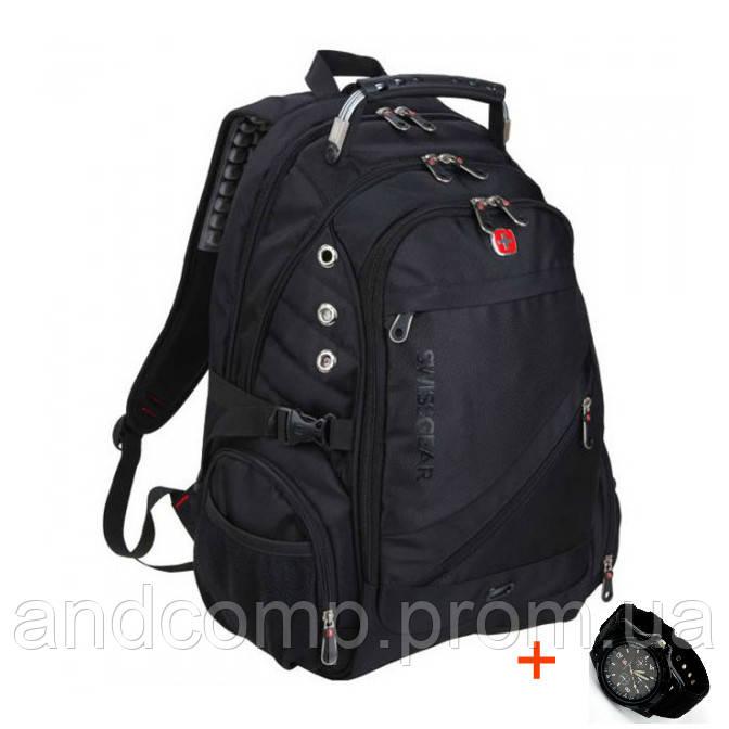 Швейцарский рюкзак SwissGear 8810 с USB, AUX и часами Swiss Army в Подарок