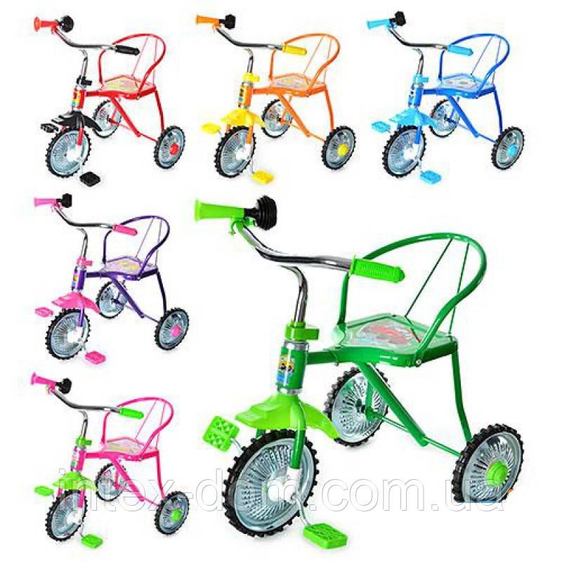 Велосипед LH-701-2LY (Жовтий) , хром, 6 кольорів, клаксон