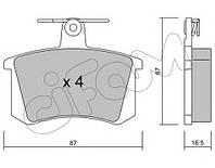 Колодки зад. Audi 80/100/V8/A4/A6/A8 /all/ (86-99) диски