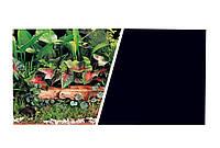 Marina Double Sided Aquarium Backround Фон 45см*7,5м дв. зеленые растения/черный фон