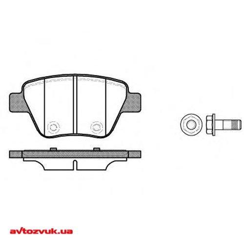 Колодки зад. VW Caddy 3/Golf 5/Golf 6/Touran (09>) SK Octavia A5/SuperB (08>) тор. сис-ма BOSCH