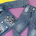 Джинсовый комплект с камушками для девочки  2-3-4-5 лет, фото 3