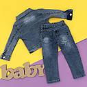 Джинсовый комплект с ромашками для девочки  2-3-4-5 лет, фото 2