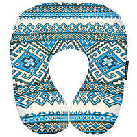 Подушка-рогалик Блакитний орнамент Україна