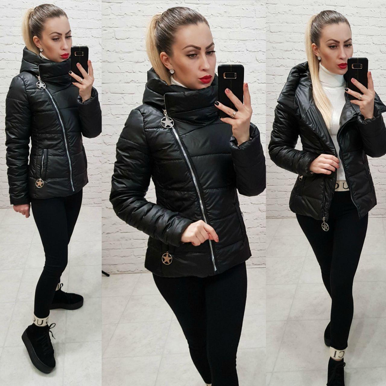 Демісезонна куртка 2019 ,арт. 501, колір чорний