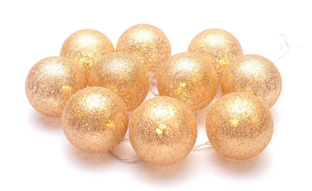 Декоративная LED гирлянда Cotton Balls Хлопковые Тайские Шарики 10 шт тайская на батарейках лед декор ночник