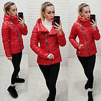 Демисезонная куртка 2019 ,арт. 501, цвет красный, фото 1