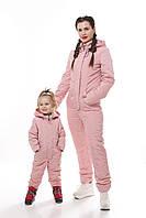 Комбинезон в стиле Familylook в пудре , Женский весенний комбинезон, детский весенний комбинезон , фото 1