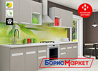 """Кухня KLER 3 м MatroLuxe с покрытием фасадов """"супермат"""" на выбор в двух оттенках"""