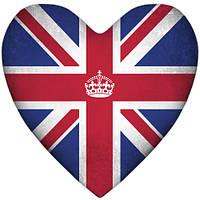 Подушка-серце, 2 розміри3D - Лондон
