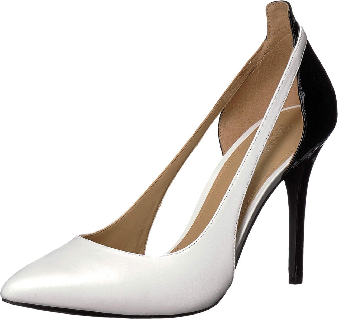 c5660717d209 Туфли на каблуке (Оригинал) MICHAEL Michael Kors Cersei Pump Optic  White Black Vachetta ...