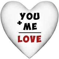 Подушка-серце, 2 розміри3D - You and me