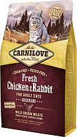 170874/7397 Carnilove Fresh Cat Курица и кролик для взролых кошек, 2 кг