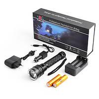 LED-фонарь подводный BL-8782, яркий, с диодом Cree T6, работает от аккумуляторов, в комплекте з/у 220В/12В