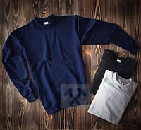 Темно синій світшот кофта без принта весна - осінь