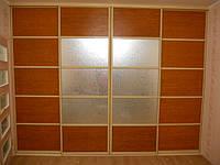 Профиль на системе Клен.Комбинация бамбук+зеркало-кружево