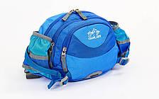 Сумка поясная WAIST BAG COLOR LIFE синяя TY-5335