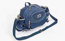 Сумка поясная WAIST BAG COLOR LIFE темно-синяя TY-5335