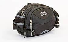 Сумка поясная WAIST BAG COLOR LIFE черная TY-5335