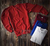 Червоний світшот кофта без принта весна - осінь