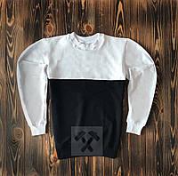 Чорно білий світшот кофта без принта весна - осінь