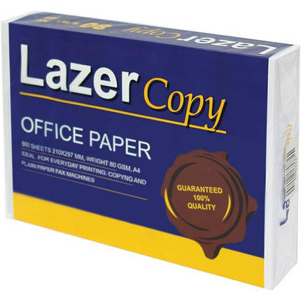 Бумага А4 Lazer Copy 80г/м кв, 500л., фото 2