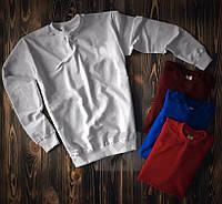 Білий світшот кофта без принта весна - осінь