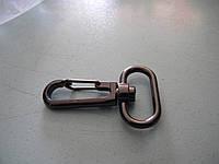 Карабин металлический черный 25 мм (100 штук)